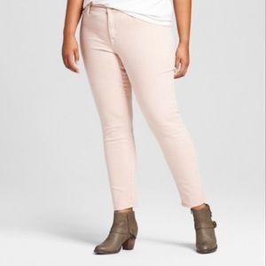 Ava & Viv Women's Plus Size Jeggings - Light Pink